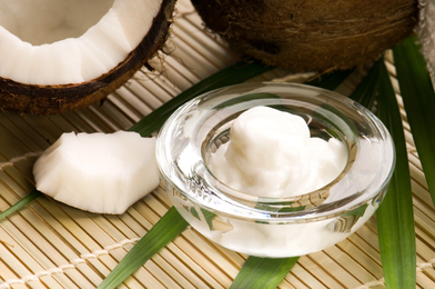 Hi! I'm Coconut Oil. I am a saturated fat full of medium-chain fatty acids that will help you lose weight!